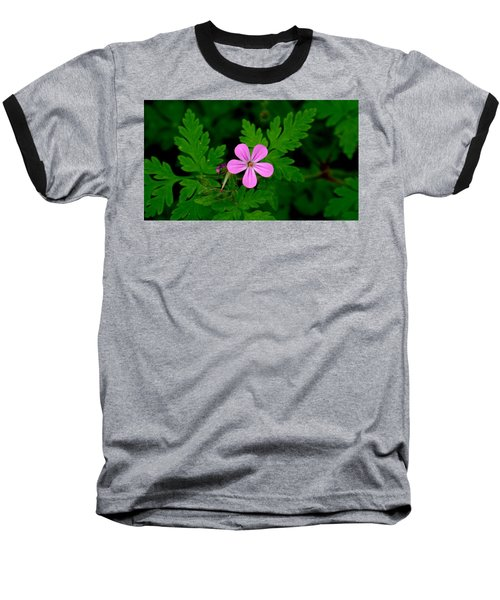Little Purple Flower Baseball T-Shirt