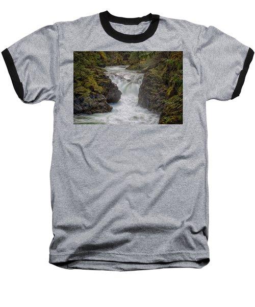 Baseball T-Shirt featuring the photograph Little Qualicum Lower Falls by Randy Hall