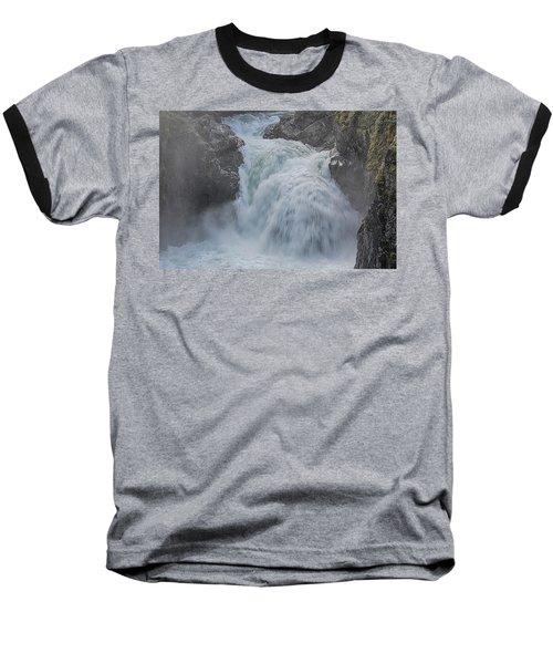 Little Qualicum Upper Falls Baseball T-Shirt by Randy Hall