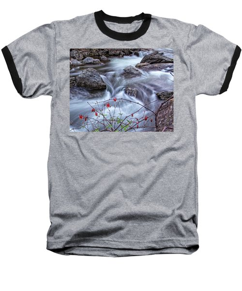 Baseball T-Shirt featuring the photograph Little River Columbines by Alan Raasch