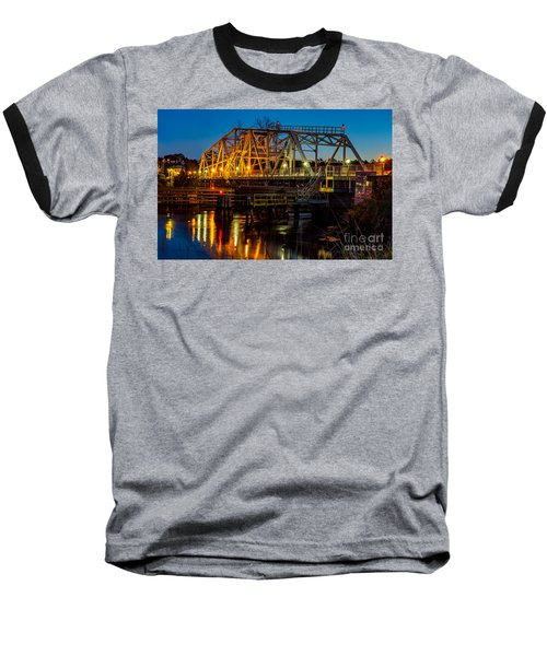 Little River Swing Bridge Baseball T-Shirt
