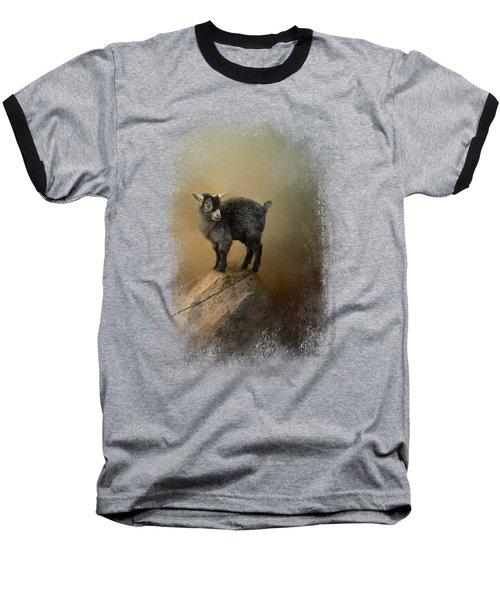 Little Rock Climber Baseball T-Shirt by Jai Johnson