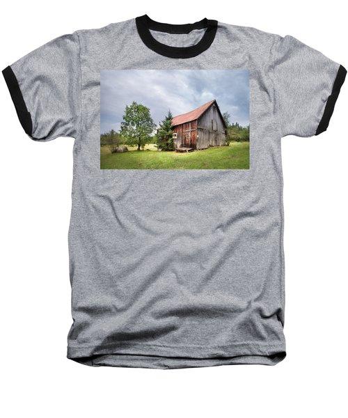 Baseball T-Shirt featuring the photograph Little Rustic Barn, Adirondacks by Gary Heller