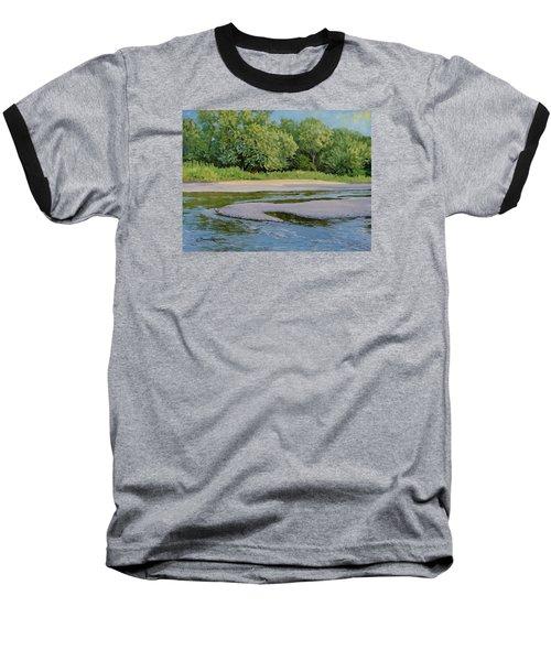Little Sioux Sandbar Baseball T-Shirt by Bruce Morrison