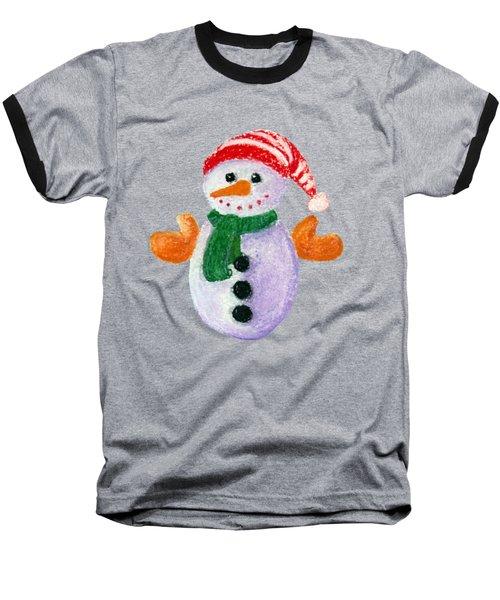 Little Snowman Baseball T-Shirt