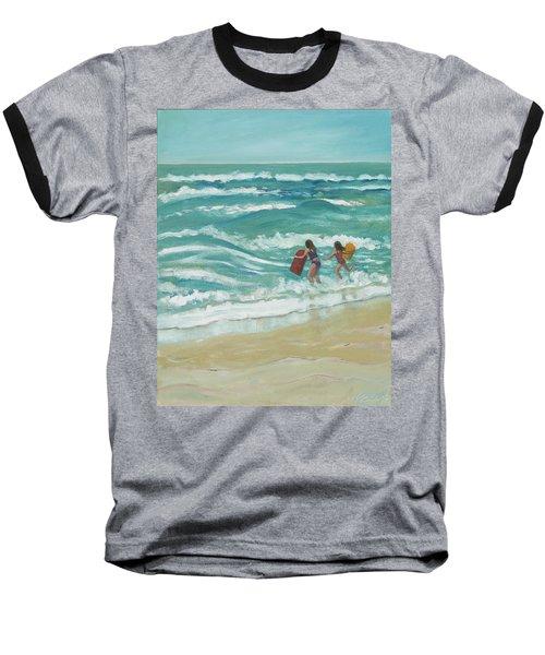 Little Surfers Baseball T-Shirt
