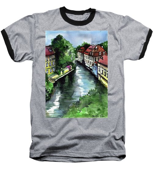 Little Venice In Prague Certovka Canal Baseball T-Shirt