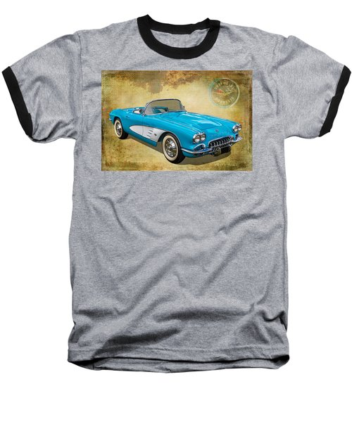 Little Vette Baseball T-Shirt by Keith Hawley