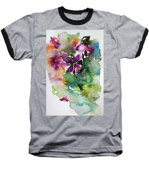 Baseball T-Shirt featuring the painting Little Violet by Kovacs Anna Brigitta