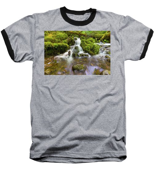 Little Waterfalls Along Wahkeena Creek Baseball T-Shirt