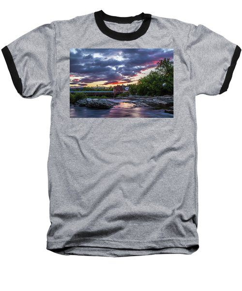 Littleton Sunset On The Rocks Baseball T-Shirt