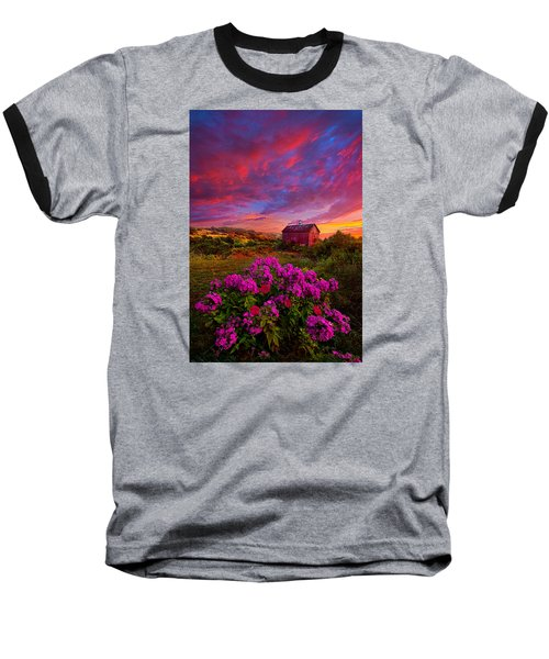 Live In The Moment Baseball T-Shirt by Phil Koch