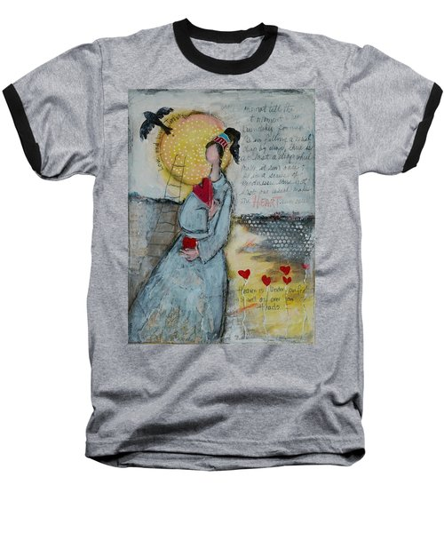 Live Joyfully  Baseball T-Shirt by Sharon Furner