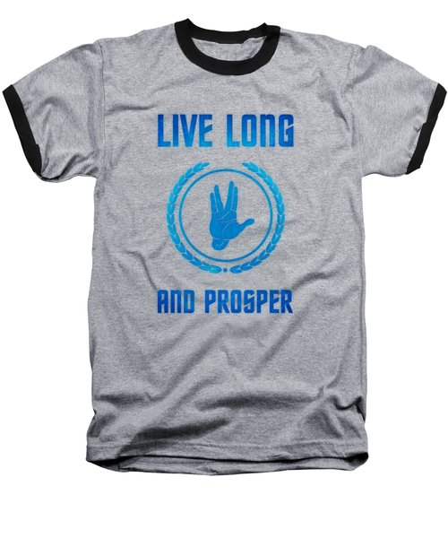 Live Long And Prosper Spock's Hand Leonard Nimoy Geek Tribut Baseball T-Shirt by Philipp Rietz