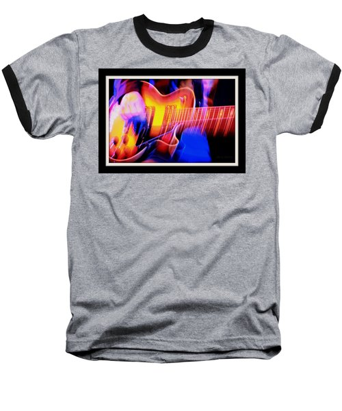 Baseball T-Shirt featuring the photograph Live Music by Chris Berry