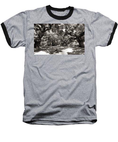 Live Oak Allee Infrared Baseball T-Shirt
