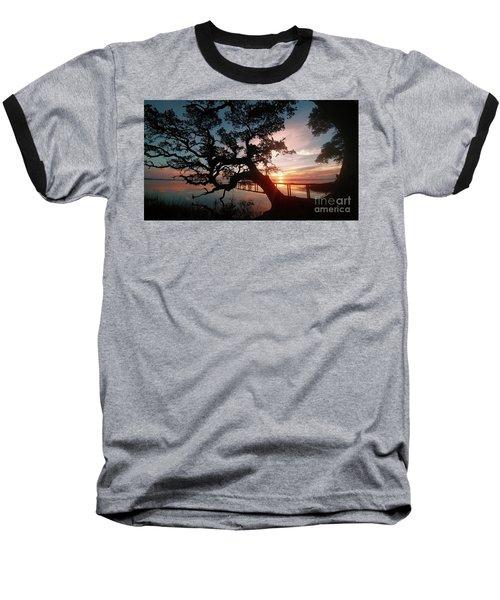 Baseball T-Shirt featuring the photograph Live Oak Sunrise by Benanne Stiens