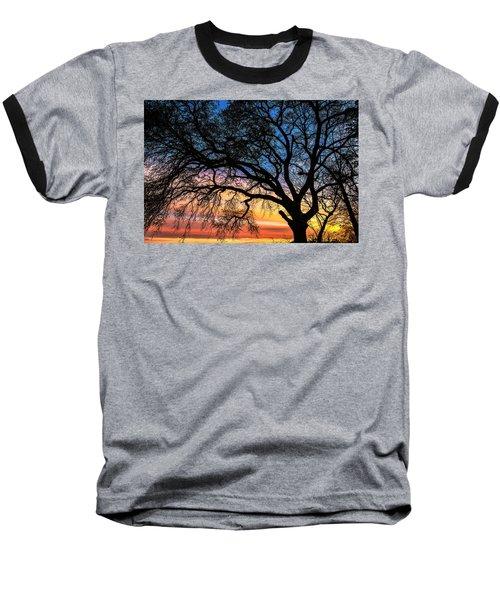 Live Oak Under A Rainbow Sky Baseball T-Shirt