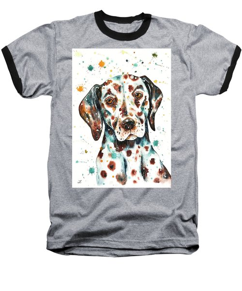 Liver-spotted Dalmatian Baseball T-Shirt