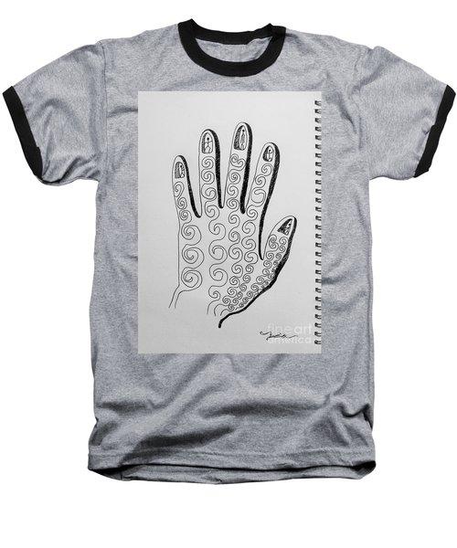 Lives Between The Fingertips Baseball T-Shirt