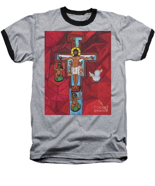Living Christ Ascending Baseball T-Shirt