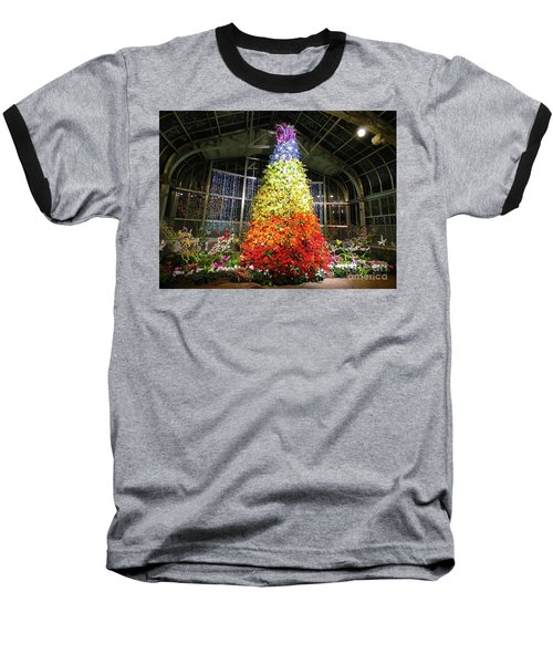 Living Color Christmas Tree Baseball T-Shirt