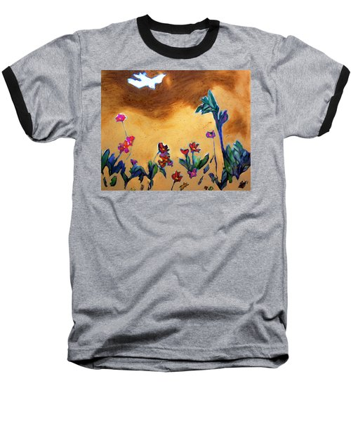 Baseball T-Shirt featuring the painting Living Earth by Winsome Gunning