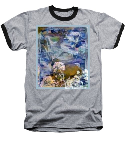 Baseball T-Shirt featuring the mixed media Living It by Ray Tapajna