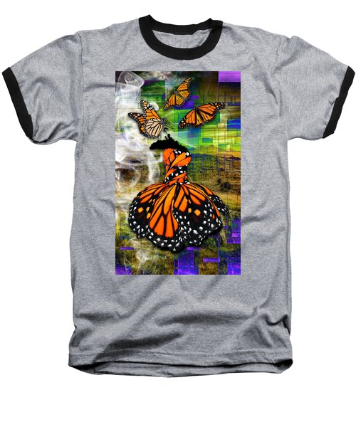 Baseball T-Shirt featuring the mixed media Living One's Destiny by Marvin Blaine