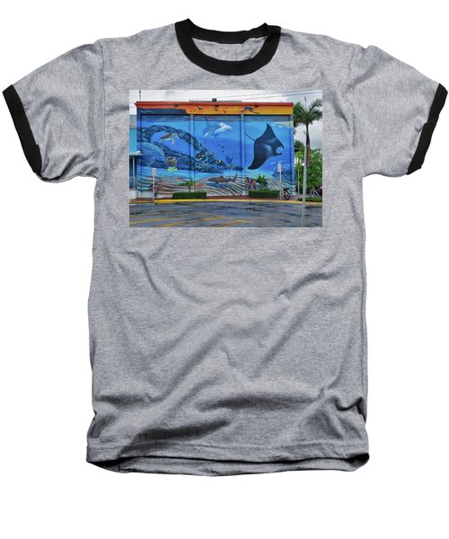 Living Reef Mural Baseball T-Shirt