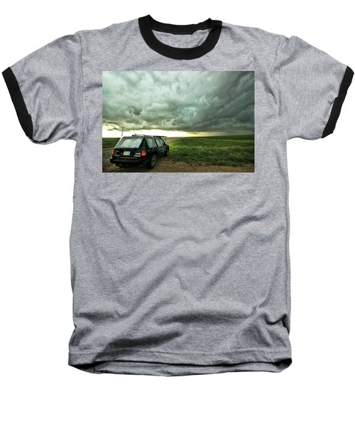 Living Saskatchewan Sky Baseball T-Shirt