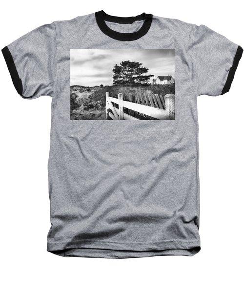 Living The Good Life Black And White Version Baseball T-Shirt by Kandy Hurley