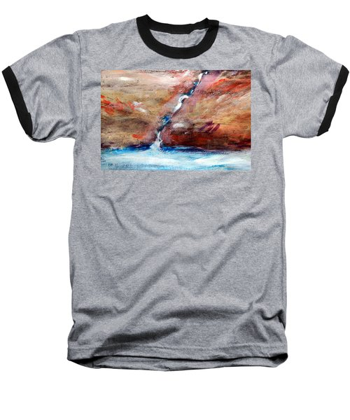 Baseball T-Shirt featuring the painting Living Water by Winsome Gunning