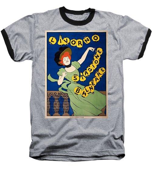 Livorno Stagione Balneare Poster 1901 Baseball T-Shirt