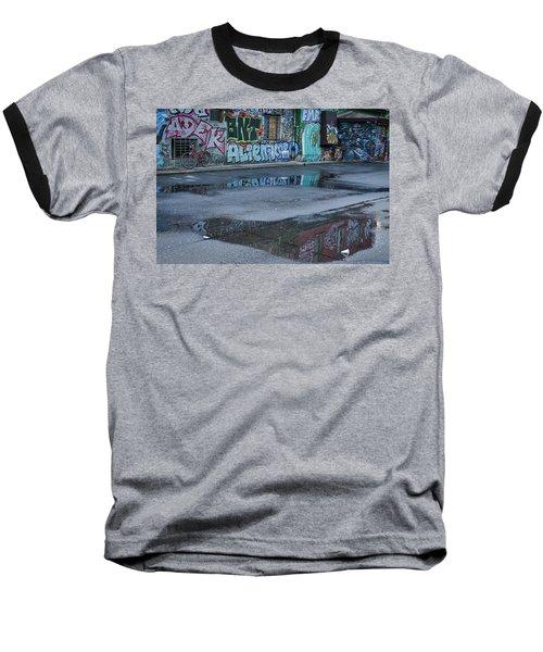 Baseball T-Shirt featuring the photograph Ljubljana Graffiti Reflections #2 - Slovenia by Stuart Litoff