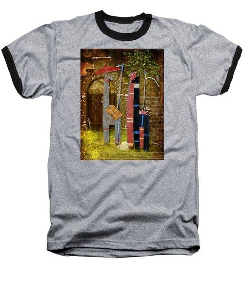 Llamas Say Goodbye Baseball T-Shirt by Bellesouth Studio