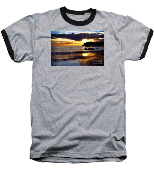 Llangennith Gower Coast Baseball T-Shirt