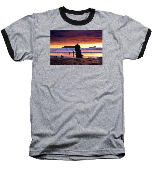 Llangennith Helvetia Wreck Baseball T-Shirt