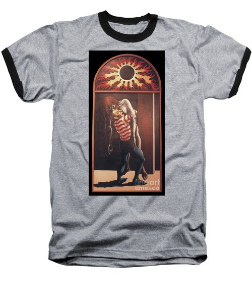 Baseball T-Shirt featuring the painting Llego' Con Tres Heridas by William Hart McNichols