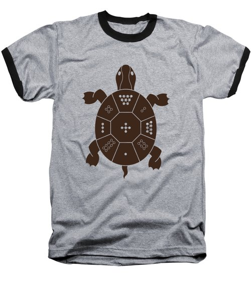 Lo Shu Turtle Baseball T-Shirt by Thoth Adan