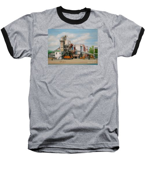 Baseball T-Shirt featuring the painting Load  The Big Orange Truck by Oz Freedgood