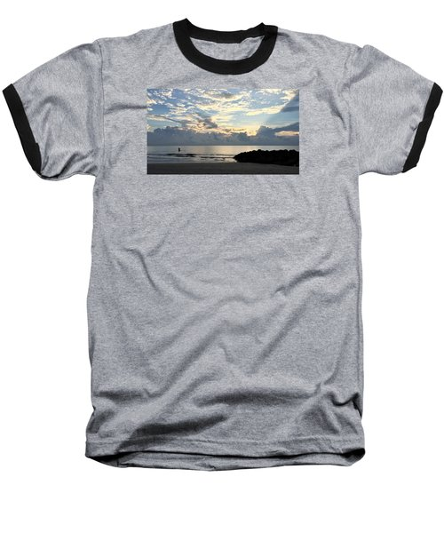 Lone Fishing Baseball T-Shirt