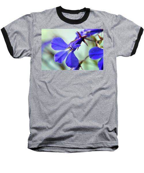 Baseball T-Shirt featuring the photograph Lobelia Erinus by Terence Davis