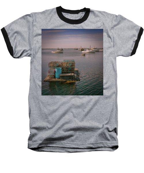 Lobstar Pot Float Baseball T-Shirt