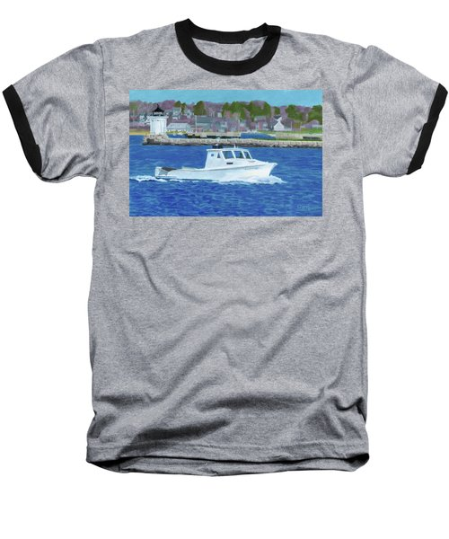 Lobster Boat And Bug Light Baseball T-Shirt