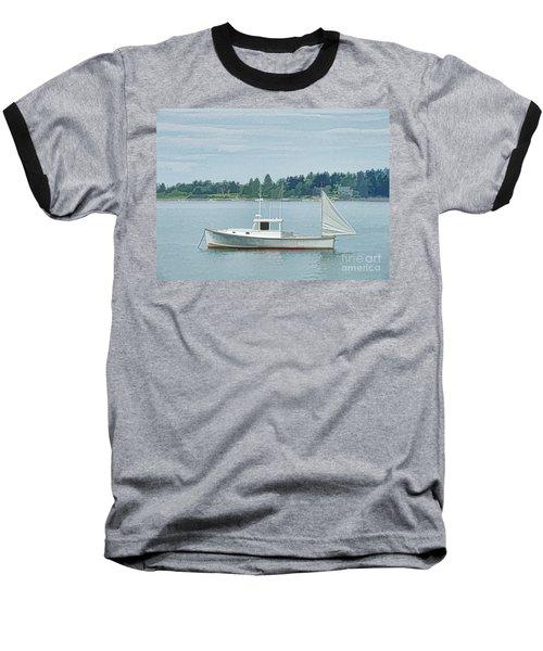 Lobster Boat Harpswell Maine Baseball T-Shirt