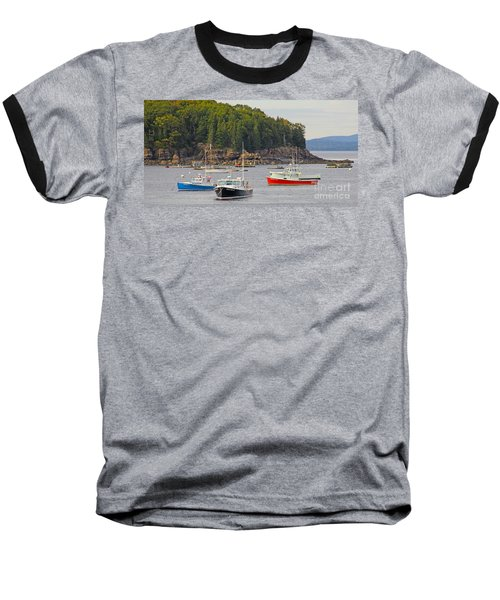 Lobster Boats In Bar Harbor Baseball T-Shirt