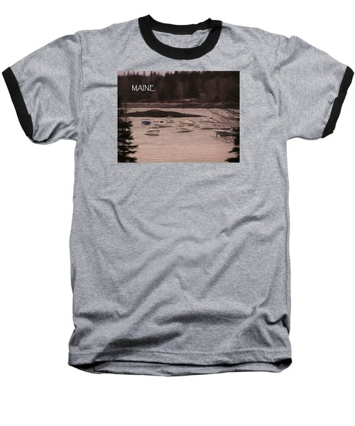 Lobster Boats Baseball T-Shirt by Jewels Blake Hamrick