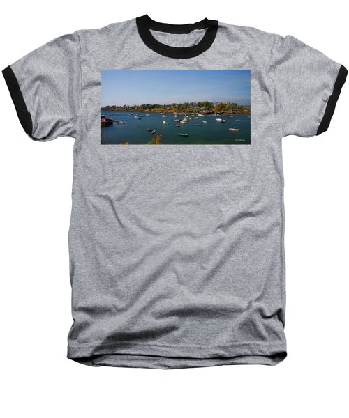 Lobster Boats On The Coast Of Maine Baseball T-Shirt