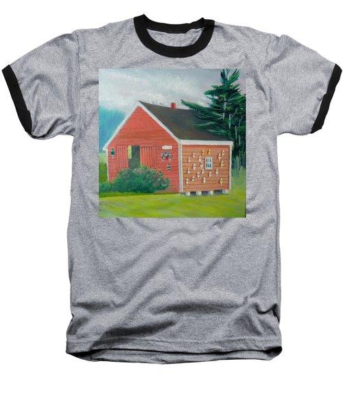 Lobster Buoy Shack Baseball T-Shirt